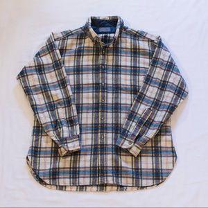 Wool Pendleton Plaid Button-Down